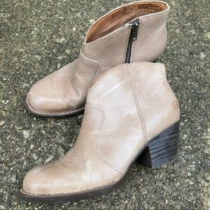 Born Leather Ankle Boots 7-1/2